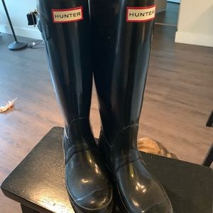 Tall Black Hunter Boots